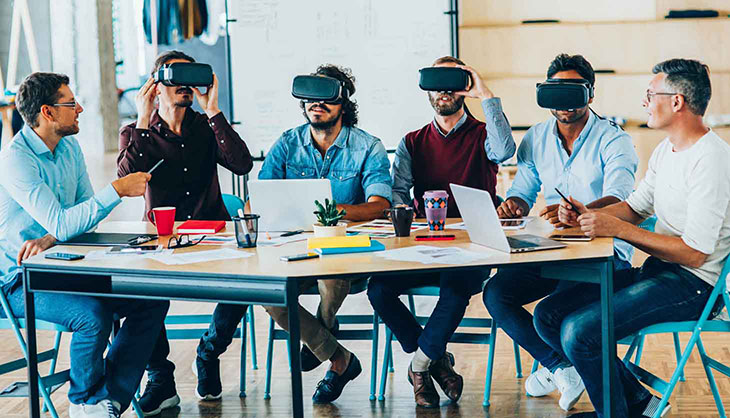 Latest Working Trends - People with VR glasses