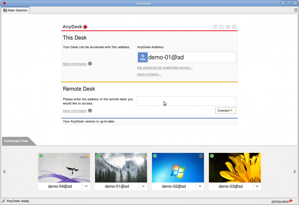 Anydesk web version