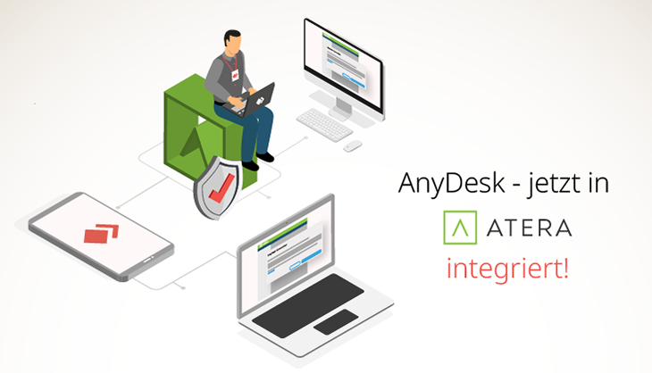 AnyDesk integriert in Atera