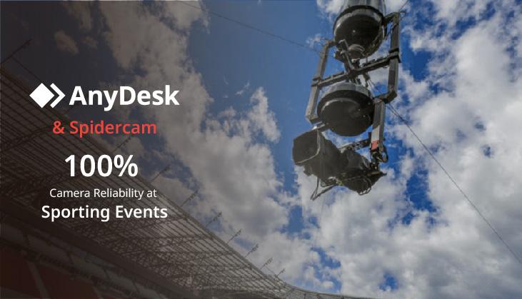 Spidercam und AnyDesk für Kamera-Zuverlässigkeit bei Sportveranstaltungen